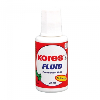 Fluid corector Kores, aplicator cu pensula, 20 ml