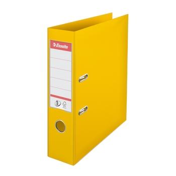 Biblioraft Esselte No.1 Power, PP/PP, A4, 75 mm, galben