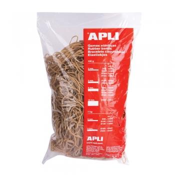 Elastice Apli, diametru 120 mm,  latime 2 mm, 1 kg/punga