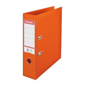 Biblioraft Esselte No.1 Power, PP/PP, A4, 75 mm, portocaliu