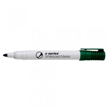 Marker pentru tabla A-series, varf rotund, 2 mm, verde