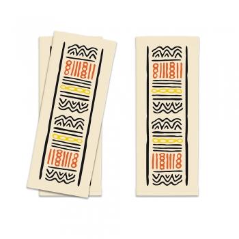 Suport pentru tacamuri, Infibra, model Tribal,  25x11 cm, 125 buc/set