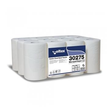 Rola prosop, Celtex, Super-Mini 30275, derulare centrala, 2 straturi, alb, 45cm, 12 role/bax