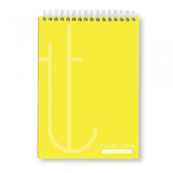 Bloc notes, Trendy Yellow, cu spira, A4, 70 file, matematica