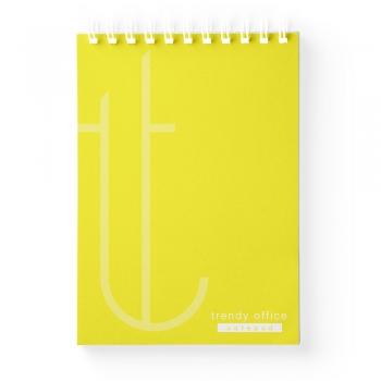 Blocnotes, Trendy Yellow, cu spira, A5, 70 file, matematica