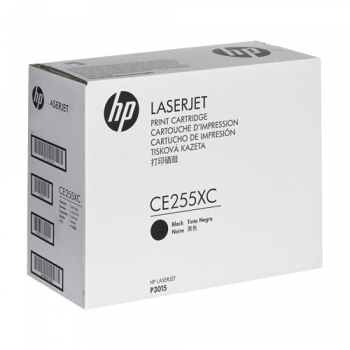 Toner, HP, CE255XC, 12500 pagini, negru