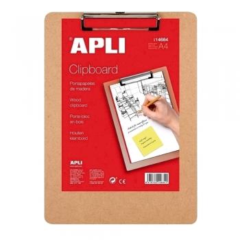 Clipboard simplu APLI, A4, lemn