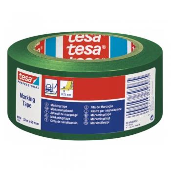 Banda adeziva de marcare Tesa, verde, 50 mm x 33 m