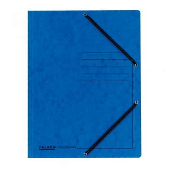 Dosar plic cu elastic, albastru