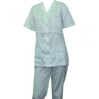 Costum medical, tercot, alb, marimea S