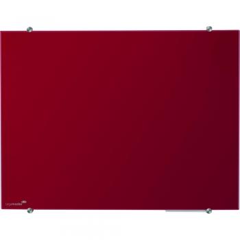 Tabla magnetica din sticla Legamaster, 90 x 120 cm, rosu