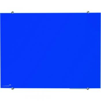 Tabla magnetica din sticla Legamaster, 100 x 150 cm, albastru
