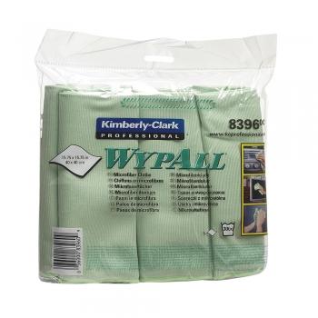 Lavete microfibra Kimberly-Clark Wypall, verzi, 6 bucati/pachet