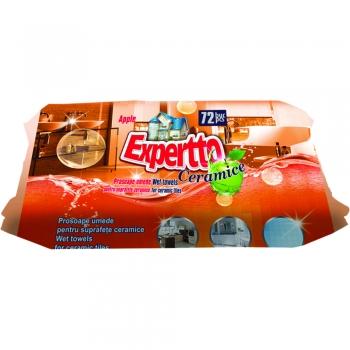 Servetele umede Expertto pentru suprafete ceramice,72 bucati/pachet