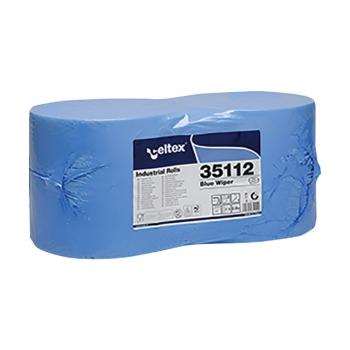 Rola lavete industriale, Celtex 35112, 2 straturi, hartie albastra, 970 portii/rola 2 role/set
