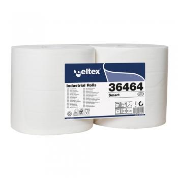 Rola lavete industriale, Celtex 36464, 2 straturi, albe, 800 portii/rola, 240 m, 2 role/set