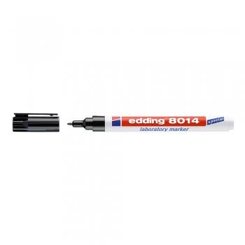 Marker Edding 8014 pentru laborator, varf 1 mm, negru