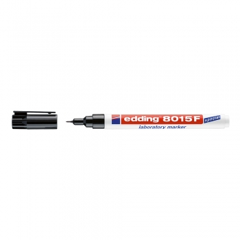 Marker Edding 8015 pentru laborator, varf 0.75 mm, negru