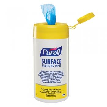 Servetele dezinfectante, Purell Surface, pt suprafete, 100 portii/pachet