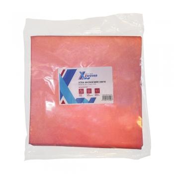 Lavete XtraXM10, microfibre, 40x40 cm, rosu, 10 buc/set