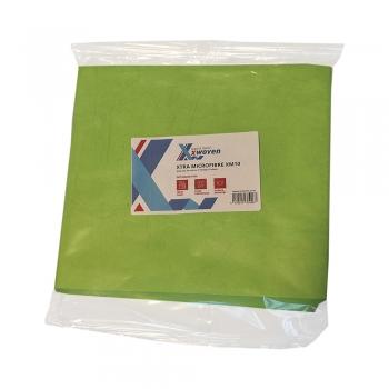 Lavete Xtra XM10, microfibre, 40x40 cm, verde, 10 buc/set