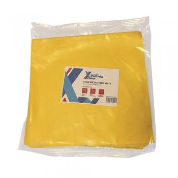 Lavete Xtra XM10, microfibre, 40x40 cm, galben, 10 buc/set
