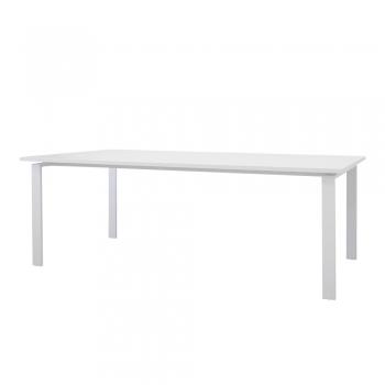 Masa de conferinta, Managerial Line, blat alb, 210x110x75 cm