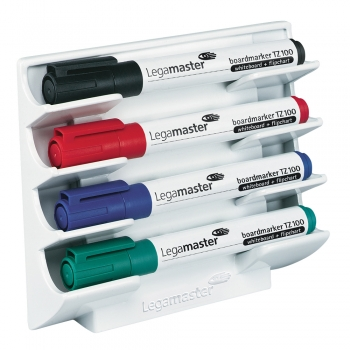 Suport magnetic pentru markere whiteboard, Legamaster, alb