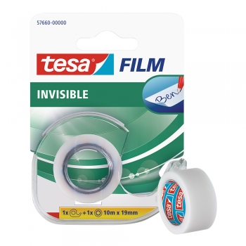 Banda adeziva cu dispenser, Tesa Film Invisible, 10 m x 19 mm