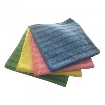 Laveta Vileda, microfibra tesuta, 40 x 40 cm, albastru, 10 buc/set