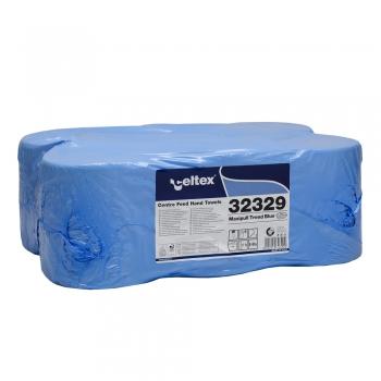 Rezerva prosoape cu derulare centrala, Celtex 32329, Maxipull Trend Blue, 2 straturi, albastru, 6 role/bax
