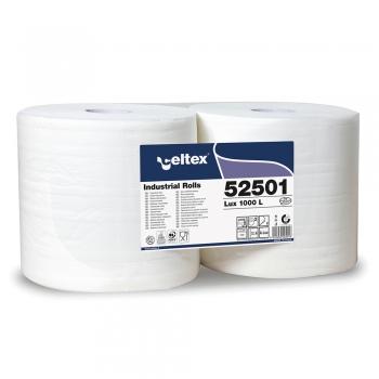 Lavete industriale, Celtex, 52501, 2 straturi, alb, 2 role/set