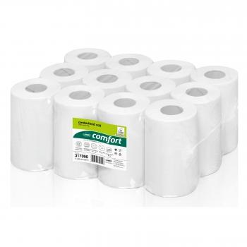 Rezerva prosoape cu derulare centrala, Wepa, Comfort 317090, 2 straturi, alb, 12 role/bax
