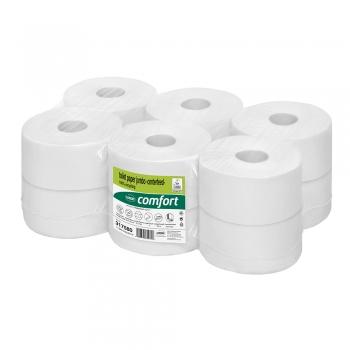 Rezerva hartie igienica derulare centrala Wepa Comfort, 2 straturi, 180 m/rola, 12 role/bax