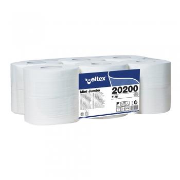 Hartie igienica Celtex, Mini Jumbo 20200, 2 straturi, alba, 120 m, 12 role/set