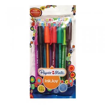 Pix fara mecanism Papermate Inkjoy 100C, plastic, 10 culori/set