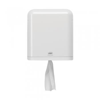 Dispenser Wepa pentru prosoape in rola cu derulare centrala, plastic, alb