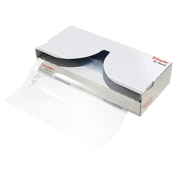 Dispenser folii de protectie Esselte, A4, cristal, 55 microni, cutie de 40 buc