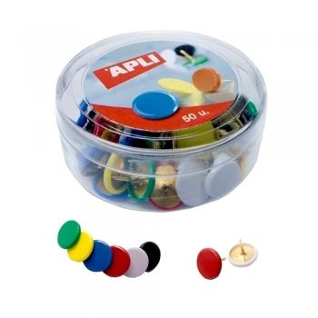 Pioneze colorate, 50 bucati/cutie
