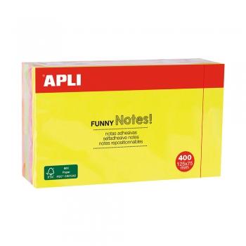 Etichete autoadezive colorate Apli 12x7.5 cm, 400 file