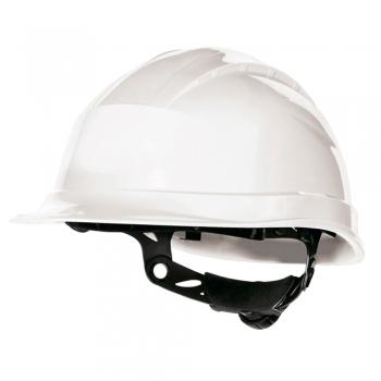 Casca protectie Delta Plus Quartz Up III, ajustare cu rotor, alb