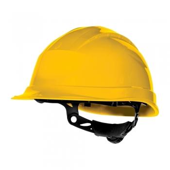 Casca protectie Delta Plus Quartz Up III, ajustare cu rotor, galben