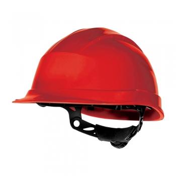 Casca protectie Delta Plus Quartz Up III, ajustare cu rotor, rosu