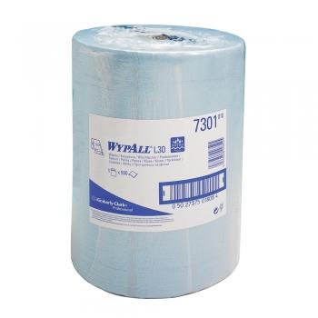 Lavete Kimberly-Clark Wypall L20 2 str Airflex albastra, 500 portii