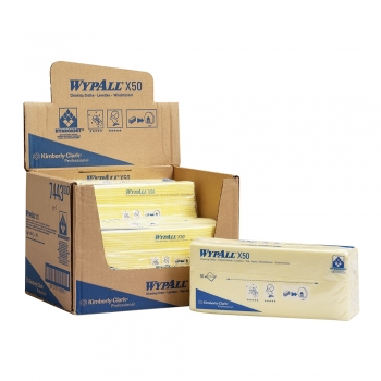 Lavete Kimberly-Clark Wypall X50 galbene, 50 bucati/set