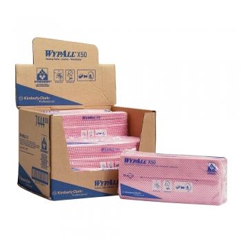 Lavete Kimberly-Clark Wypall X50 rosii, 50 bucati/set