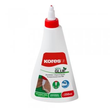 Lipici lichid Kores, 250 ml, alb