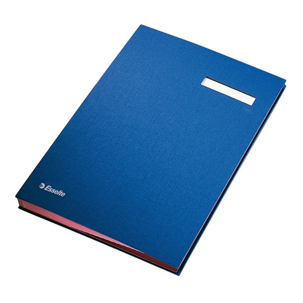 Mapa Esselte pentru semnaturi cu separatoare, 20 separatoare, albastru