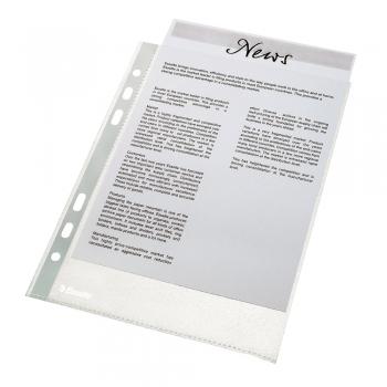 Folie de protectie Esselte Economy, A4, 35 microni, set de 100 buc