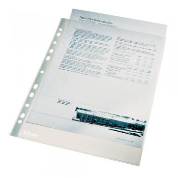 Folie de protectie Esselte, A4, cristal, 40 microni, set de 100 buc